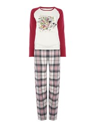 Dickins And Jones Hedgehog Pyjama Set Grey