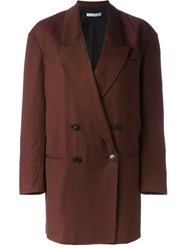 Dusan Double Breasted Oversized Coat Red