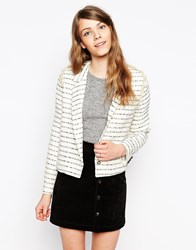 Sister Jane Bright Shadow Tweed Jacket Blackwhite