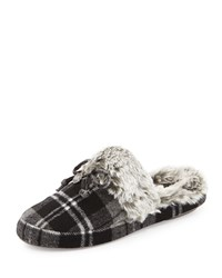 Michael Michael Kors Carter Plaid Slipper Heather Gray