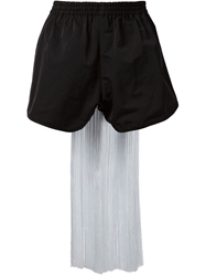 Bernhard Willhelm Embroidered Fringed Back Shorts