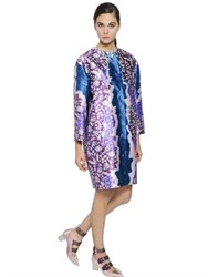 Peter Pilotto Oversized Printed Silk Twill Coat