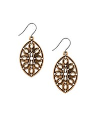 Lucky Brand Heritage Holiday Openwork Drop Earrings Gold