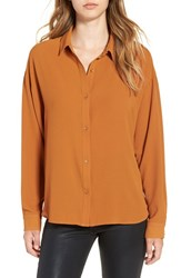 Leith Women's Dolman Sleeve Blouse Rust Ginger