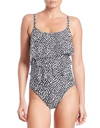 Coco Reef St. Lucia Aura Ruffle One Piece Swimsuit Black