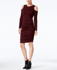 Bar Iii Cold Shoulder Bodycon Dress Only At Macy's Deep Merlot