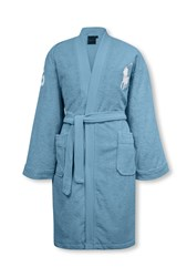 Ralph Lauren Home Big Player Bath Robe Blue