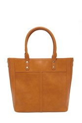 Forever 21 Faux Leather Tote Tan