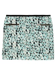Axara Paris Printed Mini Skirt