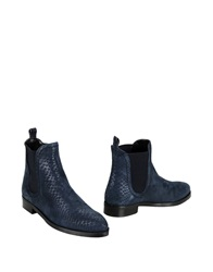 George J. Love Ankle Boots Dark Blue
