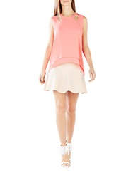 Bcbgmaxazria Bryianna High Low Cutout Halter Top Coral