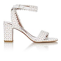 Tabitha Simmons Women's Leather Leticia Ankle Strap Sandals White