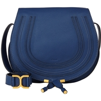 Chloe Marcie Crossbody Saddle Bag 706 Royal Navy