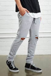 Forever 21 Distressed Heathered Joggers