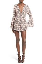 Women's For Love And Lemons 'Pia' Floral Print Romper