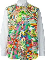 Comme Des Garcons Shirt Abstract Print Shirt White