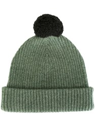 Marc Jacobs Pom Pom Beanie Green