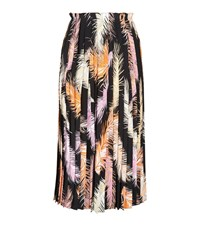 Emilio Pucci Feather Print Pleated Skirt Female Black