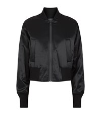 Dkny Padded Satin Bomber Jacket Female Black