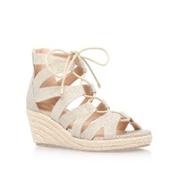 Miss Kg Phoebe High Wedge Heel Sandals Gold