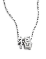 Alex Woo Faith Chinese Luck Necklace Silver