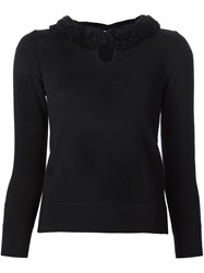 Marc Jacobs Ruffled Neck Jumper Black