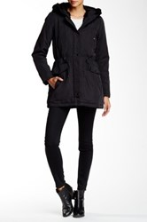 Andrew Marc New York Penny Faux Fur Trimmed Jacket Black