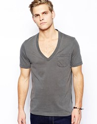 Asos T Shirt With Relaxed Fit And Vintage Look Pigment Wash Vintage Black