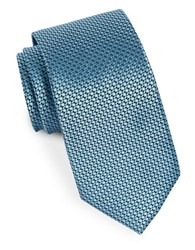 Michael Michael Kors Ring Neat Silk Woven Tie Turquoise