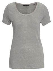 Marc O'polo T Shirt In Pure Linen Grey