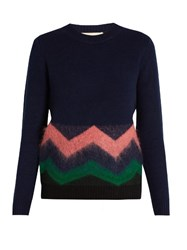 Vanessa Bruno Freak Wool And Cashmere Blend Sweater Blue Multi