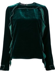 Rochas Ruffle Detail Blouse Green