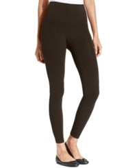 Star Power By Spanx Wide Waistband Tout And About Shaping Leggings Mineral Brown
