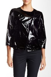 Lafayette 148 New York Odene Patent Leather Topper Black