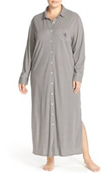 Lauren Ralph Lauren Plus Size Women's Houndstooth Knit Nightgown