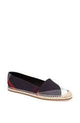 Burberry 'Hodgeson' Check Print Espadrille Navy Check