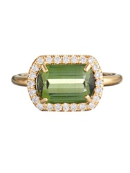 Irene Neuwirth Diamond Tourmaline And Yellow Gold Ring