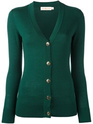 Tory Burch V Neck Cardigan Green