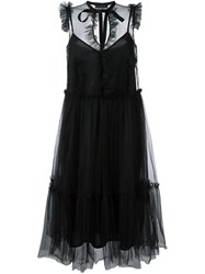 Marco Bologna Sleeveless Tulle Dress Black