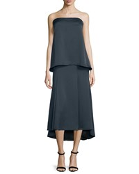 Camilla And Marc Strapless Silk Popover Gown Women's Jet Black