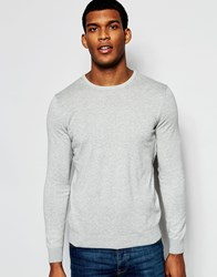 United Colors Of Benetton 100 Cotton Knitted Crew Neck Jumper Grey