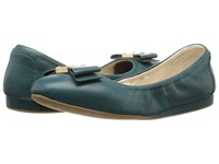 Cole Haan Tali Bow Ballet Dark Teal Leather Women's Slip On Shoes Blue