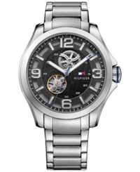 Tommy Hilfiger Men's Automatic Sophisticated Sport Stainless Steel Bracelet Watch 44Mm 1791281 Black