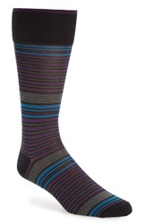 Calibrate Men's Mercerized Stripe Socks