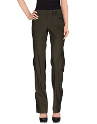 Richmond X Trousers Casual Trousers Women Military Green