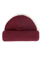 Topman Burgundy Mini Fit Beanie Hat Purple