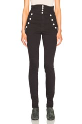 Isabel Marant Marvin High Waisted Jeans In Black