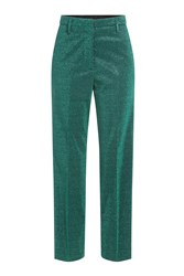 Golden Goose High Waisted Lame Pants Green