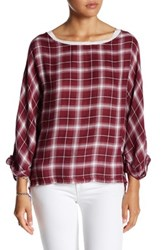 Anama Plaid Blouse Red