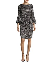 Tracy Reese Bell Sleeved Sheath Dress Charcoal